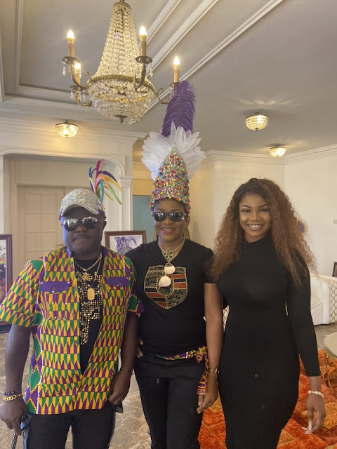 Tacha hangs out with governor of Cross River State, Professor Ben Ayade