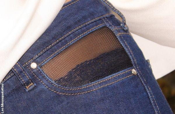 Jean Open Style, poche en résille opaque AvolioDesign