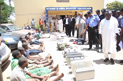 Photos: Bauchi State Police arrests 96 criminals, rescues 28 hostages, recovers arms, stolen vehicles and animals