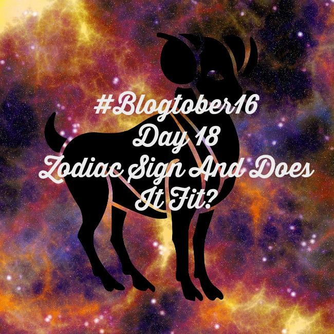 #Blogtober16 Day-18-Zodiac-Sign-And-Does-It-Fit-text-on-illustration-of-ram-amongst-stars