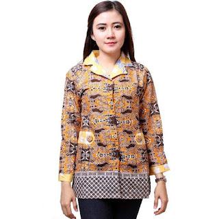 Model Baju Kerja Batik Modern