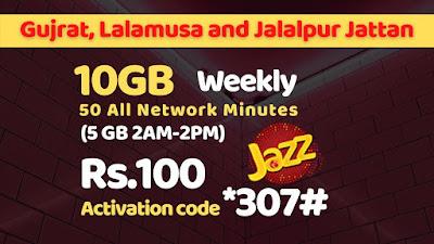 Jazz Gujrat Haftawar Offer 2021
