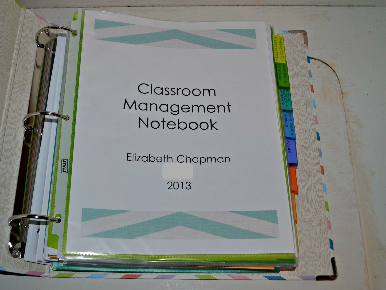 E  Myself  and I  Teaching Tuesday  Classroom Organization Binder       Tuesday  August 20  2013