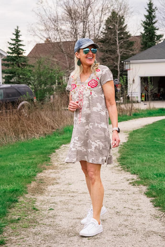 the best camo print tee-shirt dress