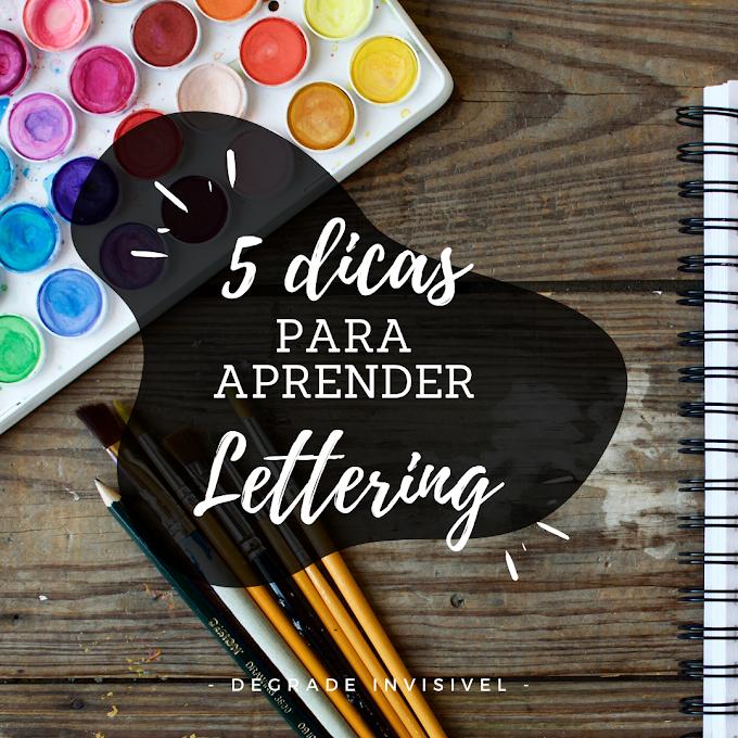 5 Dicas para aprender Lettering