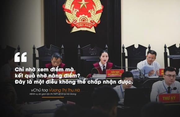 """Những câu nói """"gây sốc"""" trong xét xử vụ án nâng điểm thi Hà Giang 3"""