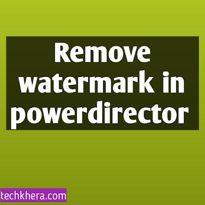Remove watermark in PowerDirector