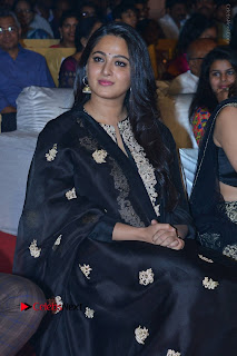 Actress Anushka Anushka Shetty Stills in Black Salwar Kameez at Om Namo Venkatesaya Audio Launch Event  0012.JPG