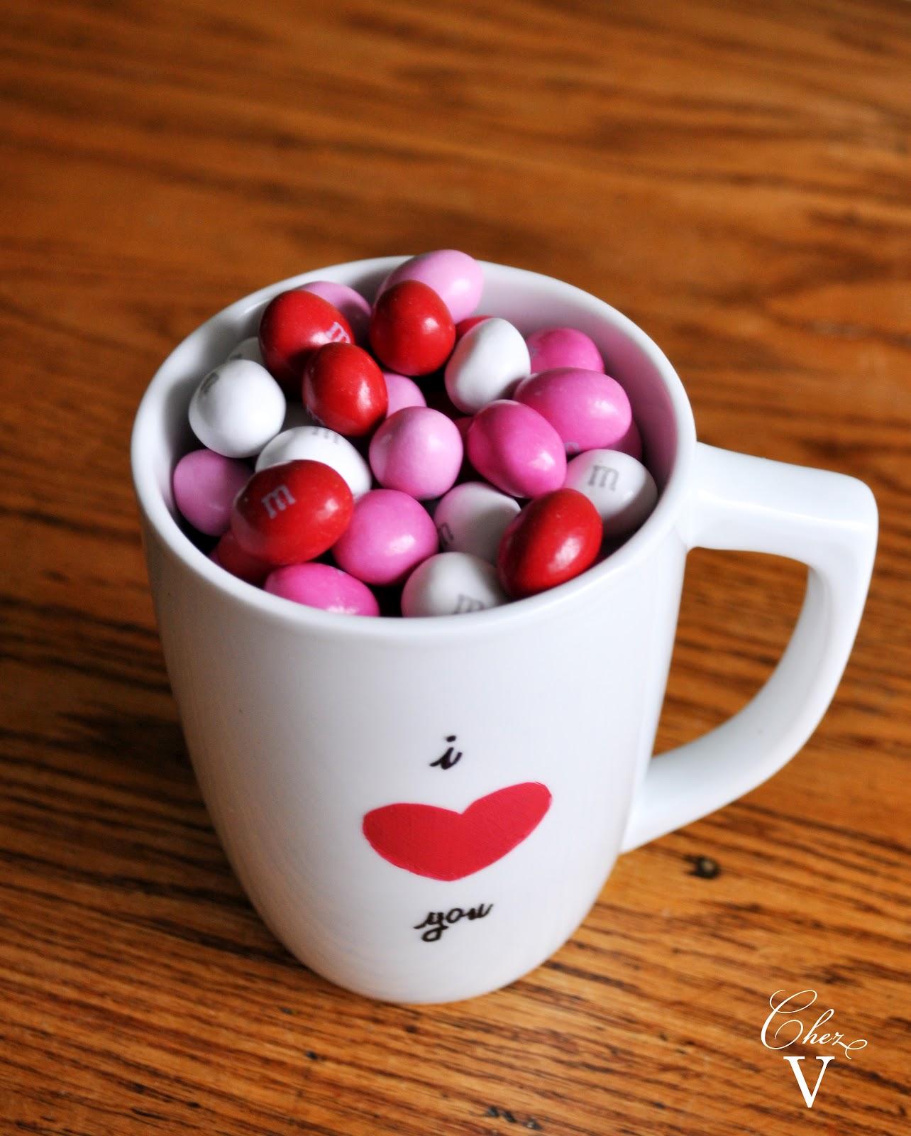 A DIY Valentine Mug, Baked Goods & Flowers