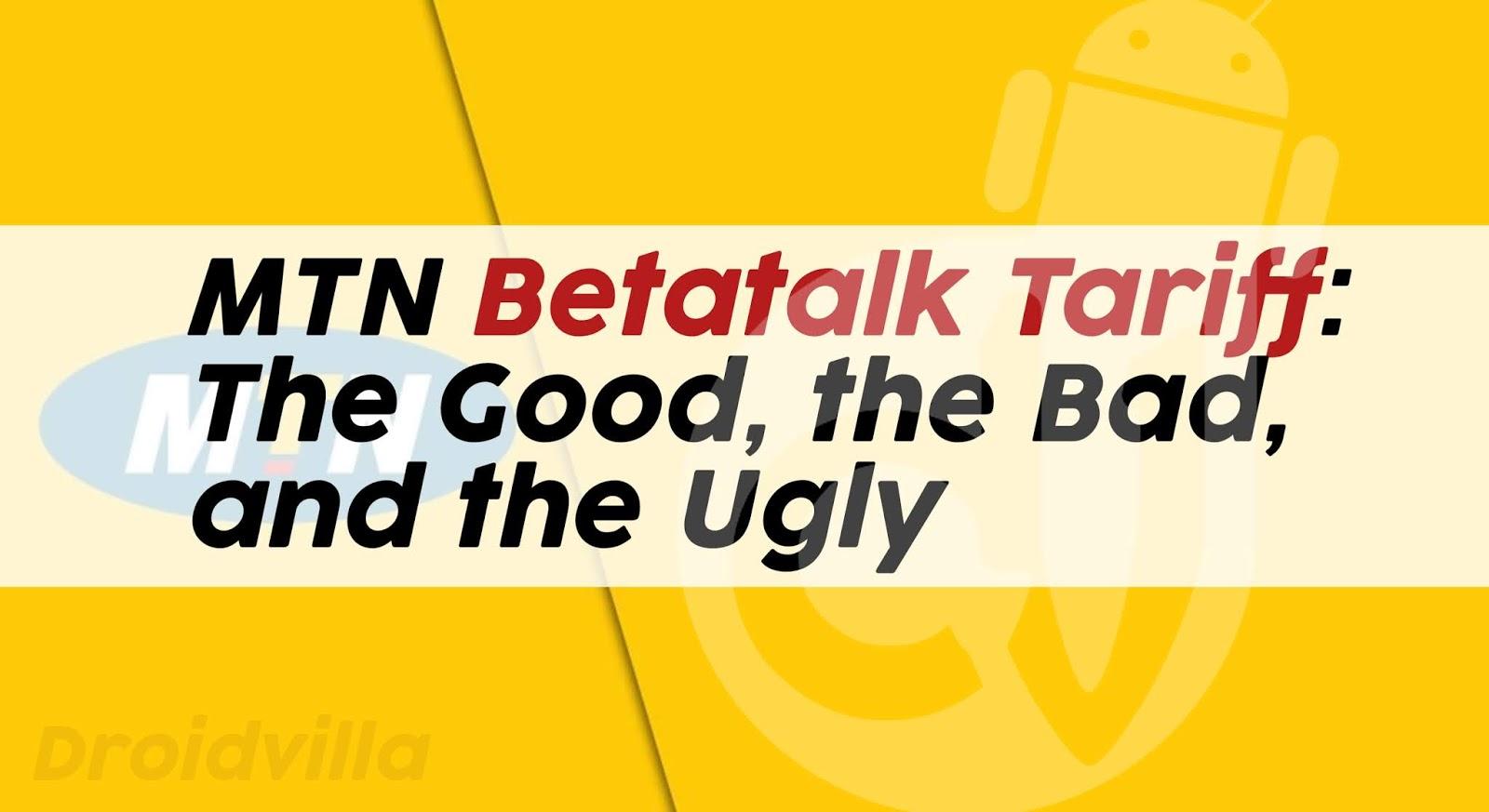 MTN betatalk Tariff code