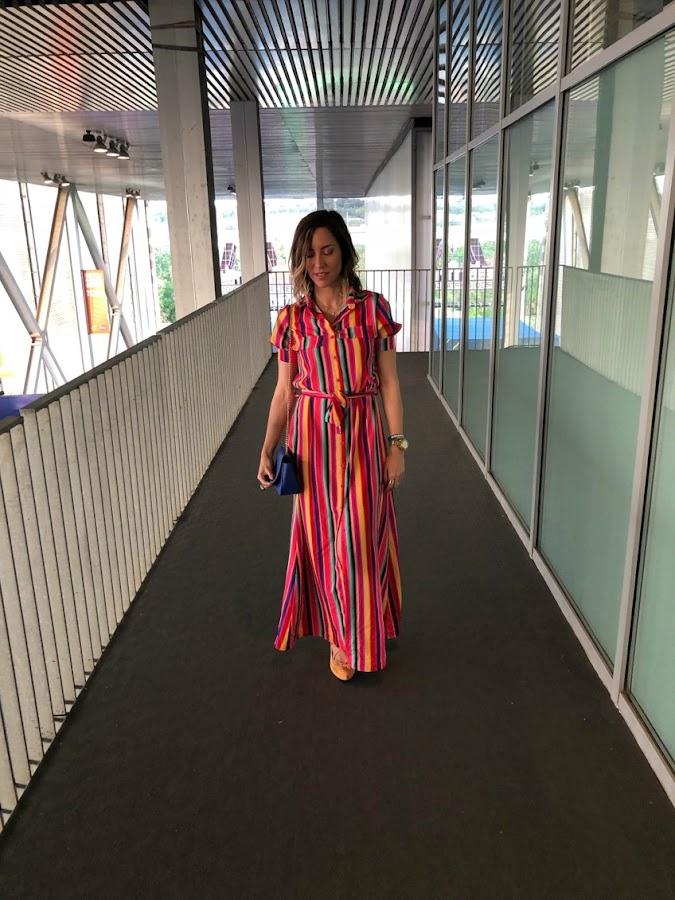 Fitness And Chicness-Vestido Largo Rayas Multicolor-4