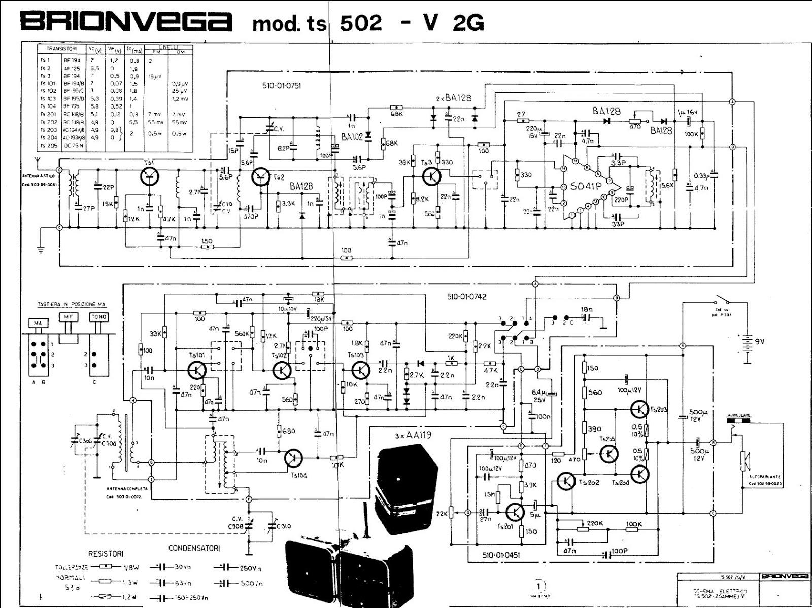 Schema Elettrico Jack 3 5 : Air radiorama: cubo brionvega la radio a colori