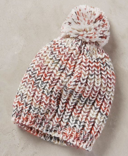 Anthropologie Inspired Knitted Hat - Free Pattern