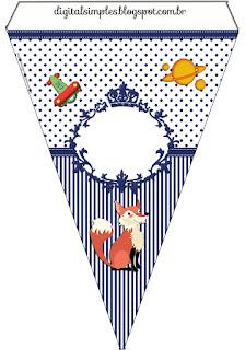 Banderines de Pequeño Principito  para imprimir gratis.