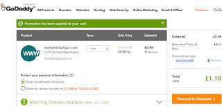 طريقة شراء دومين من موقع جودادي بسعر $0.99