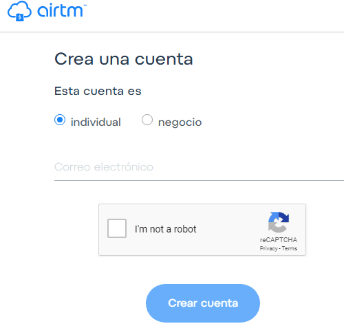 registro en airtm