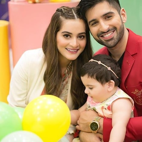 Aiman Khan and Muneeb Butt Celebrates 1st Birthday of Their Daughter Amal