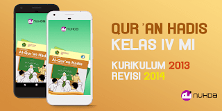 Aplikasi Buku Siswa Qur'an Hadis Kelas 4 MI Kurikulum 2013 Revisi 2014