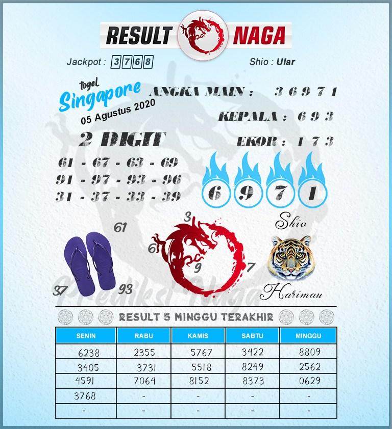 syair sgp result naga 5 agustus 2020