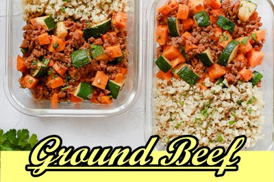 Ground #Beef #Zucchini #Sweet #Potato #Skillet #(Meal #Prep)