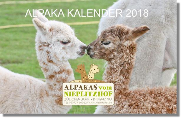 Alpaka Wand Kalender in DIN A3 Quer Format