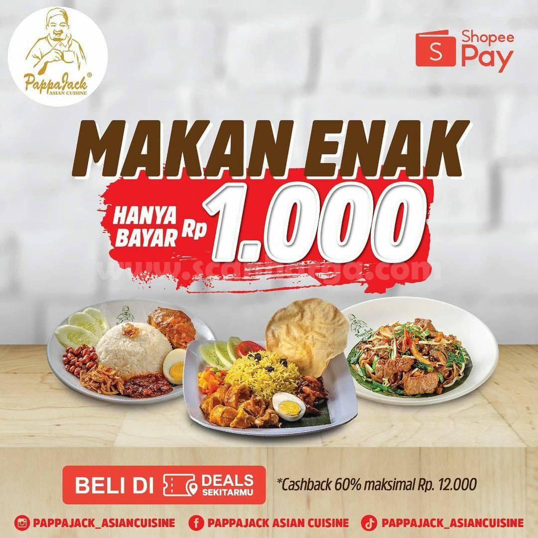 PappaJack Promo Makan Enak Hanya Bayar Rp 1.000 pakai ShopeePay