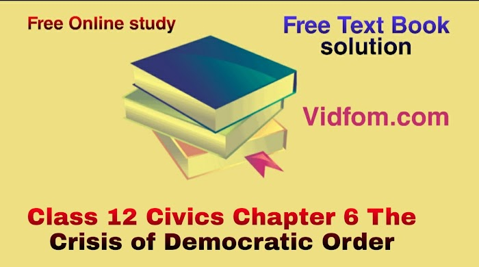 Class 12 Civics Chapter 6 The Crisis of Democratic Order