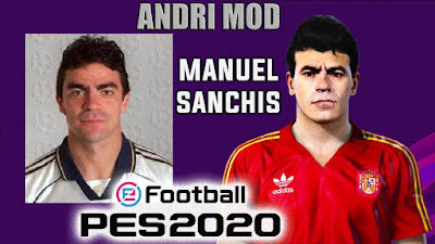 PES 2020 Faces Manuel Sanchis by Andri Mod