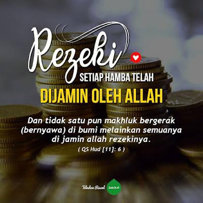 kata nasehat islam rezeki sudah di atur oleh Allah