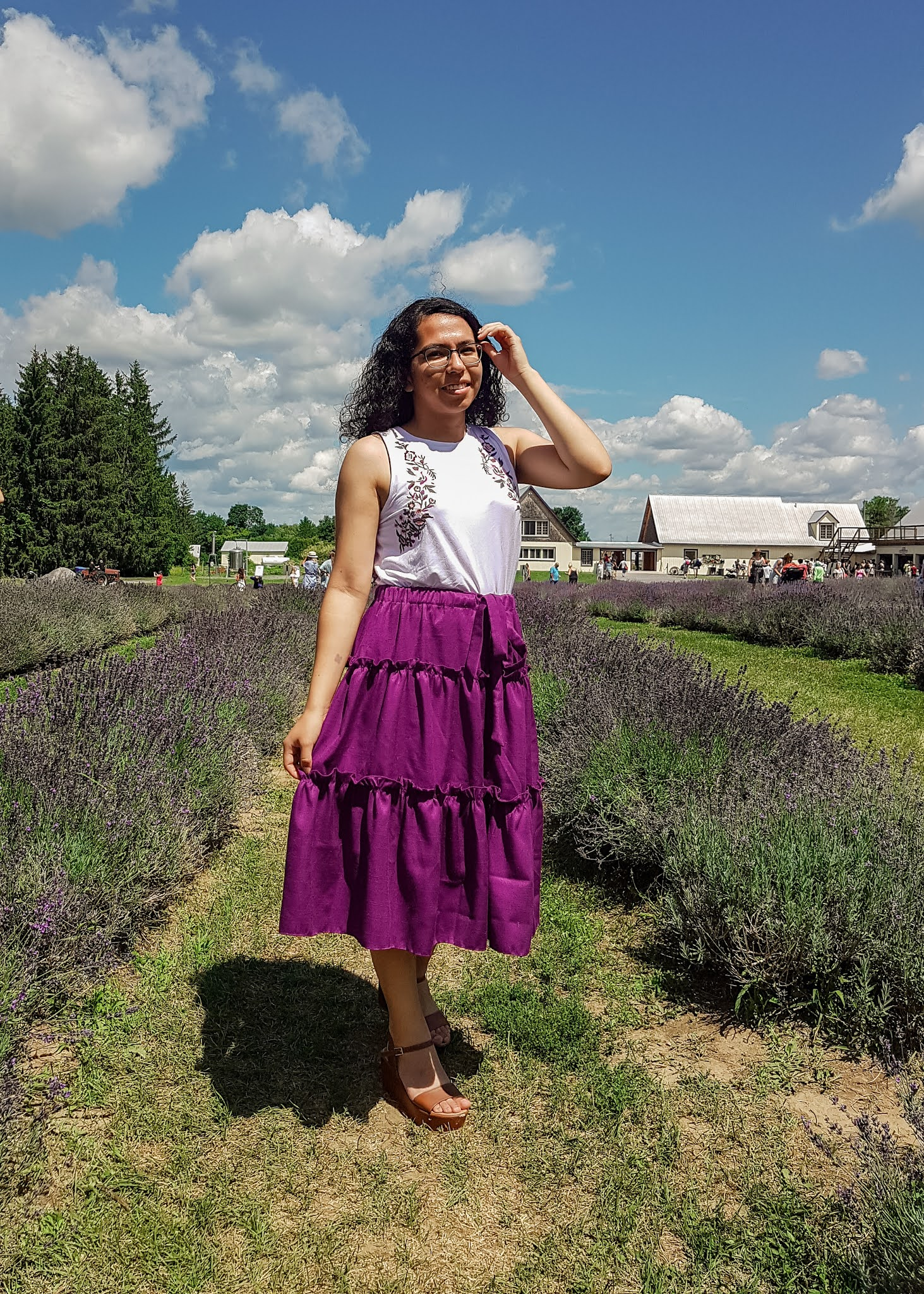 Sewing A Birthday Skirt | visiting a lavender field by Plaid and Sugar blog