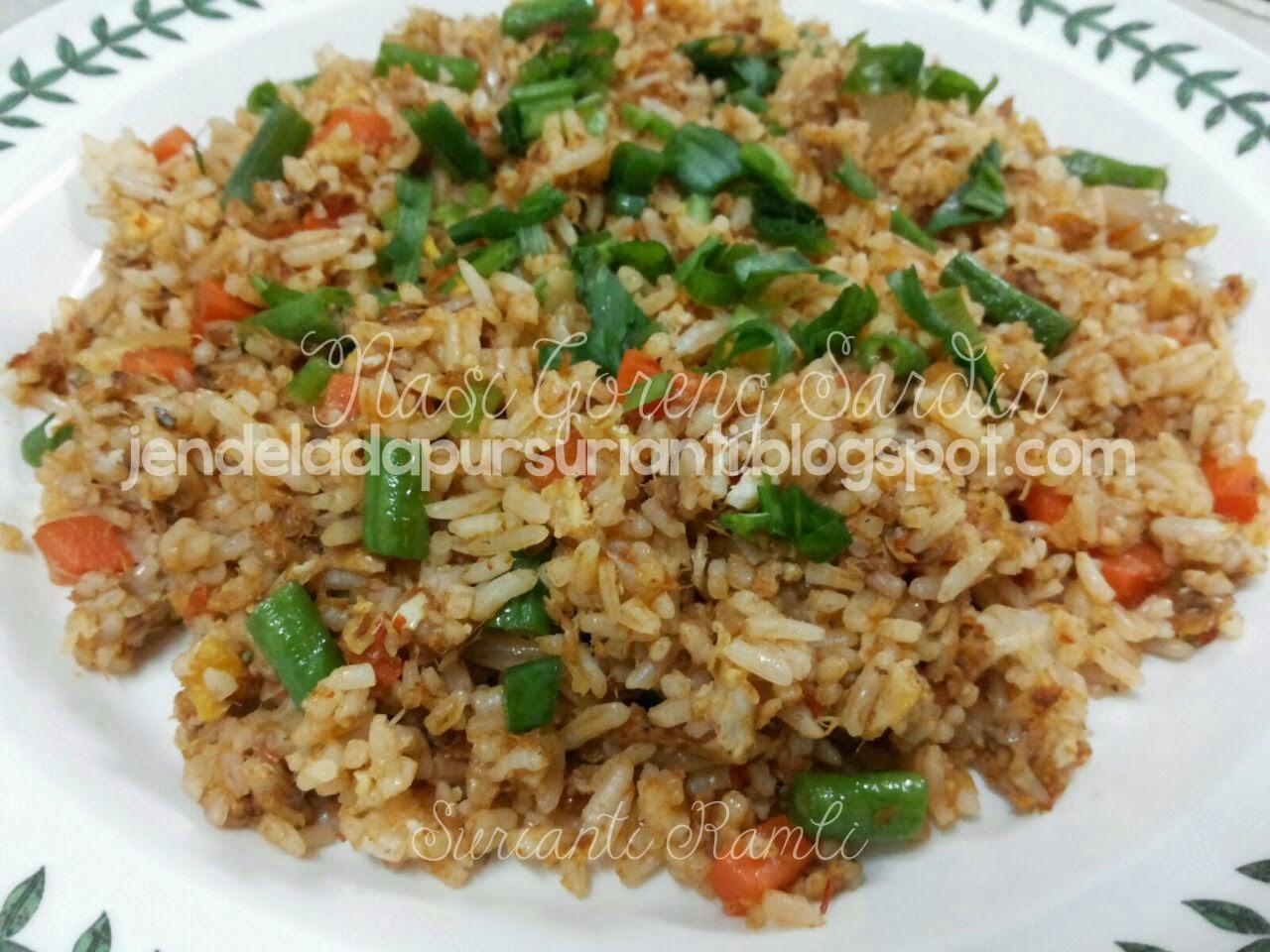 jom masak nasi goreng sardin  sedap ringkas  mudah Resepi Nasi Goreng Tanpa Bawang Merah Enak dan Mudah