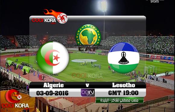 مشاهدة مباراة الجزائر وليسوتو اليوم 4-9-2016 تصفيات كأس أمم أفريقيا