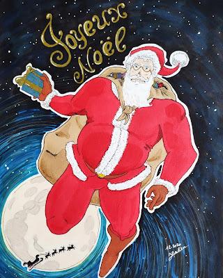 Joyeux Noël et bonnes fêtes de fin d'année (dessin par Juju Gribouille)
