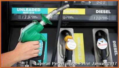 Laporan Kos Petrol Januari 2017