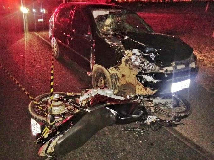 LEM-BA: Casal Morre Em Colisão Entre Carro E Moto Na BR-242
