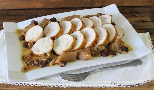 Rotti de pollo con frutos secos. Julia y sus recetas