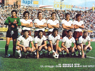 The Torino team that won the Serie A championship in 1975-76. Graziani is fourth from the left on the back row