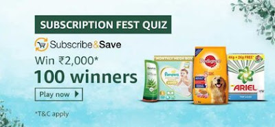 Amazon Subscription Fest Quiz