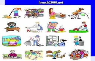 مفردات وجمل الأعمال المنزلية فى اللغة الفرنسية