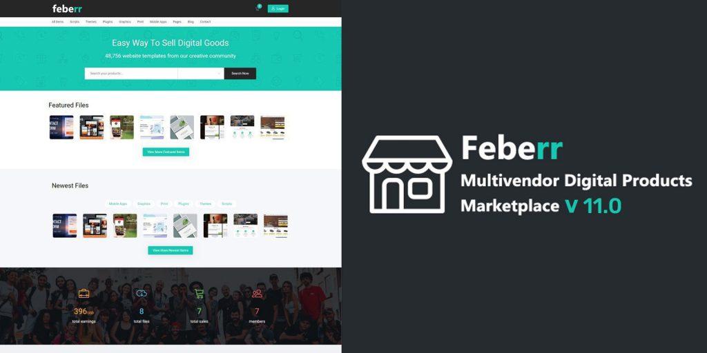 Feberr php script–Multivendor Digital Products Marketplace