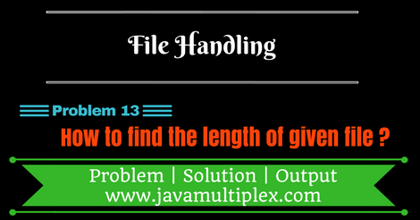 Java program that finds the length of given file.