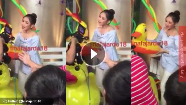 Sarah Geronimo belts out Tatlong Bibe song