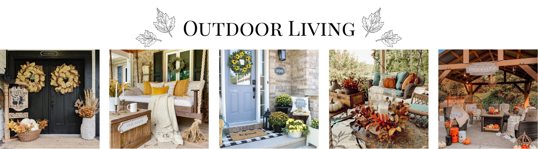outdoor living fall collage