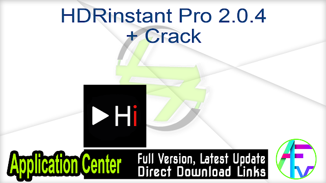 HDRinstant Pro 2.0.4 + Crack