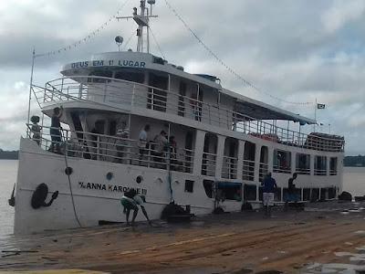 Navio de passageiros naufraga no trajeto Macapá-Santarém nesta madrugada