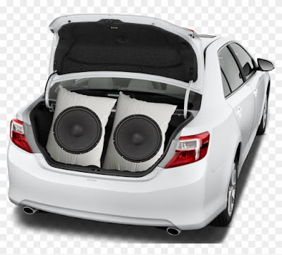 Sonic Weapon Built into the Trunk of a Car - Two 18 Inch Woofers - gvan42