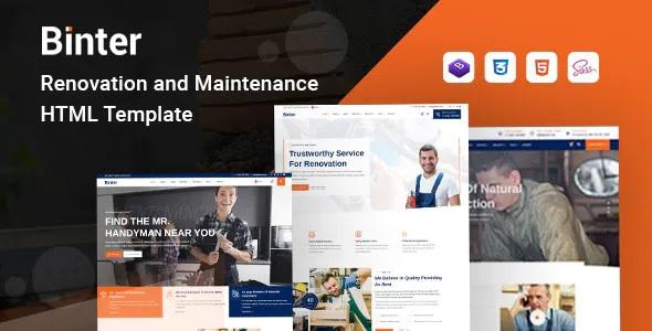 Best Renovation & Building Company HTML Template