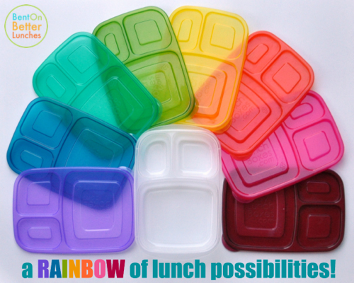 A Rainbow of EasyLunchboxes - Classics & NEW Brights!