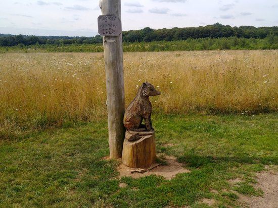 Animal carvings on the Magical Meander, Heartwood Forest. Image by Hertfordshire Walker released under Creative Commons BY-NC-SA 4.0