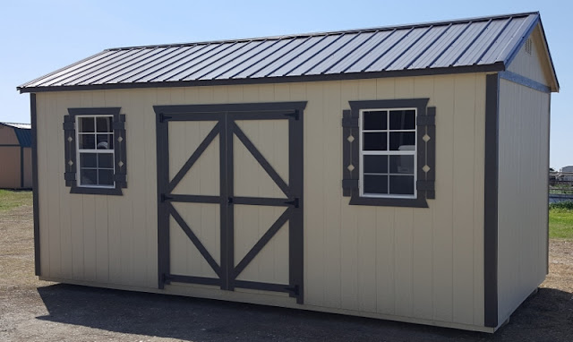10x20 side utility shed portable building a wolfvalley building in stock for quick delivery - Garden Sheds Quick Delivery